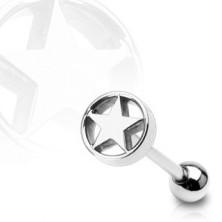 Piercing do jazyka - Hvězda v kruhu