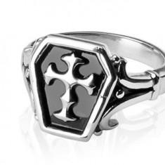 Prsten z chirurgické oceli - keltský kříž J4.5