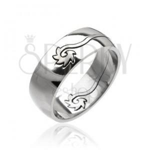 Ocelový prsten - stočený disk