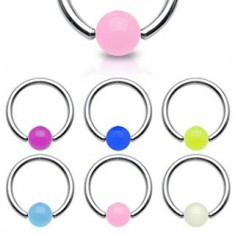 Piercing - kroužek, zářící kulička