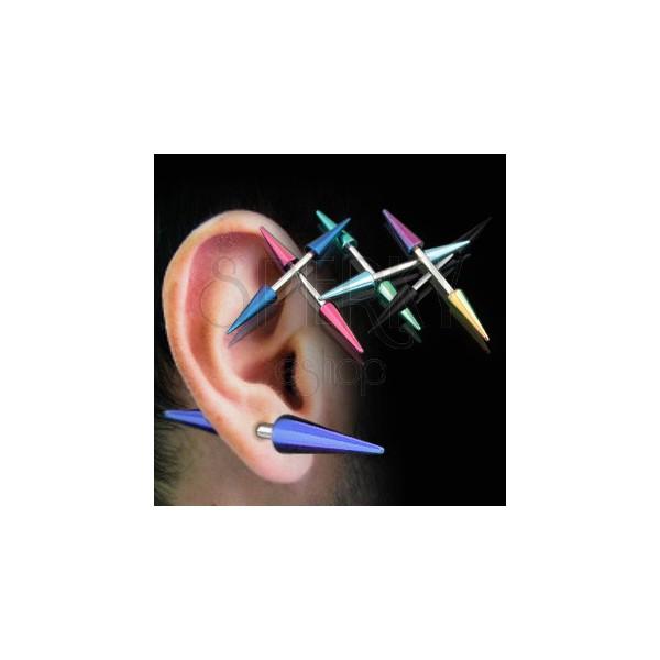 Piercing do ucha titanové špičky