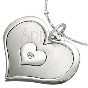 Ocelový přívěsek tři srdce v jednom