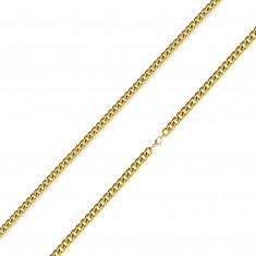 Řetízek z 316L oceli - zatočená kulatá očka zlaté barvy, 2 mm