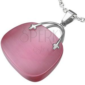 Dámský přívěsek ve tvaru růžové kabelky
