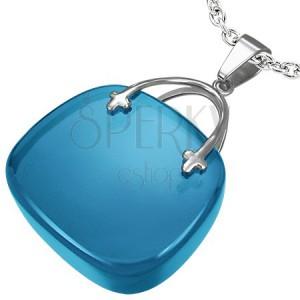 Dámský přívěsek ve tvaru modré kabelky