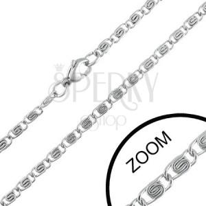 3 mm ocelový řetízek se zdobenými očky