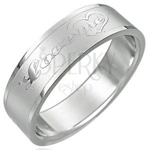 Ocelový prsten LOVE ME