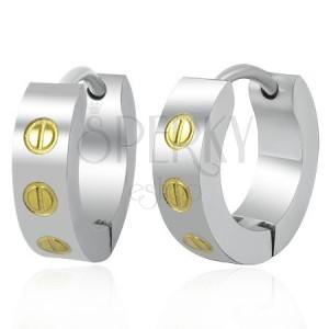 Ocelové obruče - zlaté šroubky