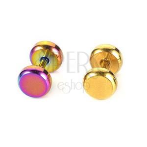 Piercing do ucha z oceli barevný