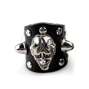 Kožený prsten - tvář ďábla