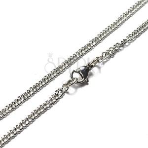 Ocelový řetízek - plochý tvar, malá očka