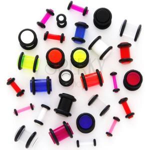 Plug do ucha UV průhledný s gumičkami
