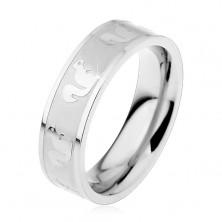 Ocelový prsten - vzor veverka