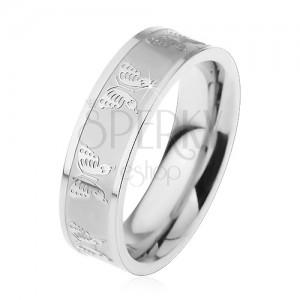 Prsten z chirurgické oceli - motýl