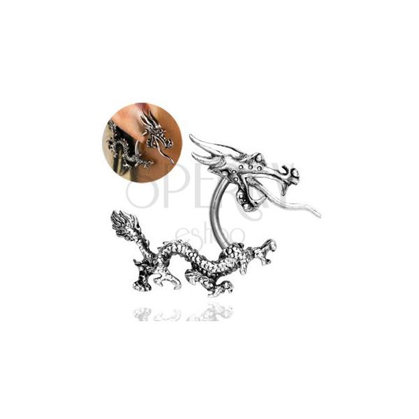 Piercing do ucha - čínský ohnivý drak