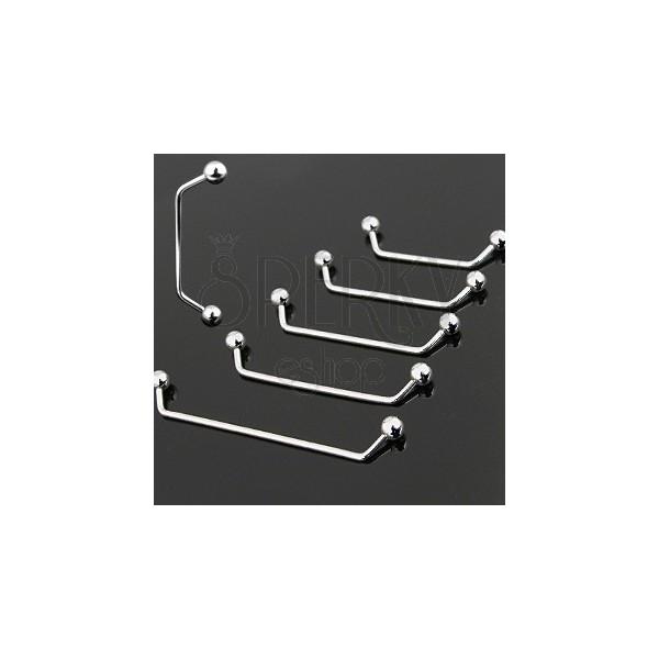 Piercing implantát jednoduchý s kuličkami