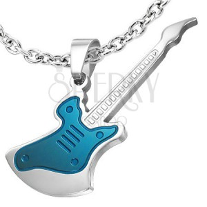 Ocelový přívěsek kytara