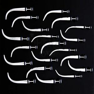 Falešný ocelový expander s gumičkami - zakřivený