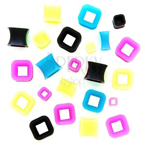Tunel do ucha - dutý barevný čtverec