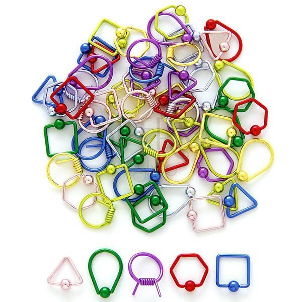 Piercing s kuličkou - geometrické tvary