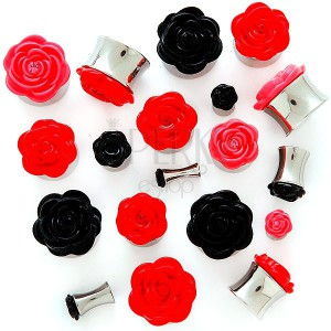 Plug do ucha s plastickou růžičkou