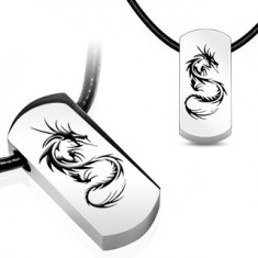 Náhrdelník - ocelový přívěsek, čínský drak Q6.7