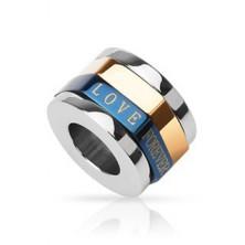 Přívěsek pro zamilované - trojbarevný prstenec, LOVE FOREVER