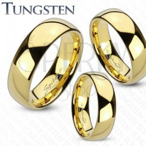 Svatební prsteny - zlatý wolfram