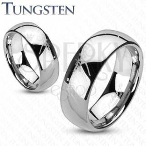 Prsten z wolframu - stříbrný, motiv Pán prstenů