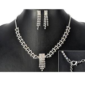 Sada - náhrdelník a náušnice z duhových kamínkových pásů