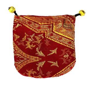 Dárkový sáček - látkový, zlaté ornamenty
