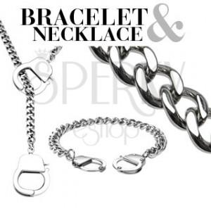 Řetízkový set - náramek a náhrdelník s pouty