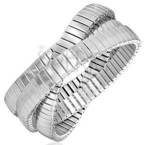 Trojitý ocelový náramek - flexibilní, úzké články