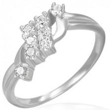 Snubní prsten - dva zirkonové pruhy