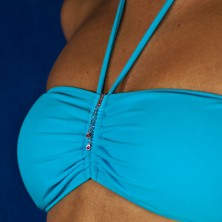 Šperk na plavky - visící slzičky zirkonů na dlouhém řetízku