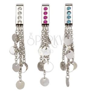 Šperk na plavky - visící kroužky na řetízcích