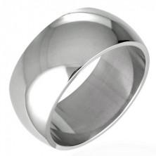 Snubní prsten z chirurgické oceli - lesklý oblý 8 mm