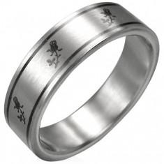 Prsten chirurgická ocel - růže D18.5