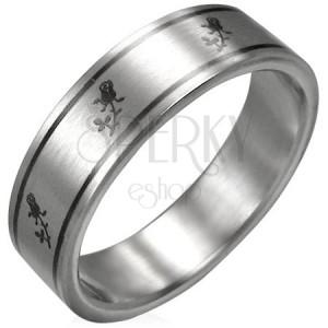 Prsten chirurgická ocel - růže