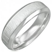 Prsten chirurgická ocel - matný broušený střed