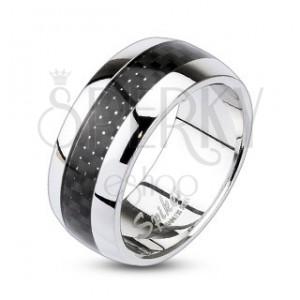 Prsten z chirurgické oceli s károvaným vzorem