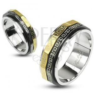 Prsten s otáčivými prstenci - chirurgická ocel