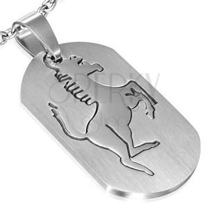 Přívěsek z oceli - známka s koníkem