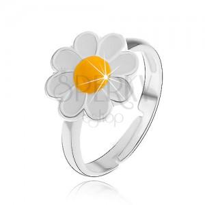 Prsten ze stříbra 925 - kopretina