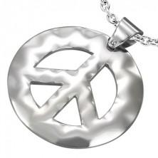 Přívěsek z chirurgické oceli se znakem míru