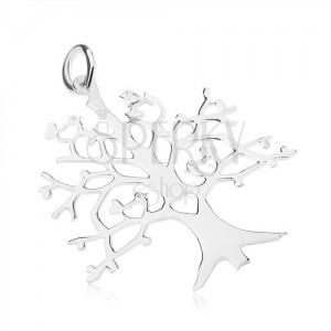 Přívěsek ze stříbra 925 - strom života se srdíčky