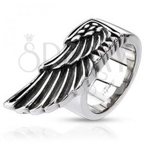 Prsten z oceli - veliké křídlo orla