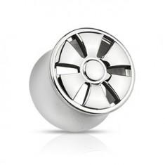 Plug do ucha z oceli - sedlový, design ELEKTRONY Y14.4