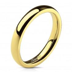 34f4d5f9b Ocelový prsten zlaté barvy se zrcadlovým leskem - 3 mm K15.4