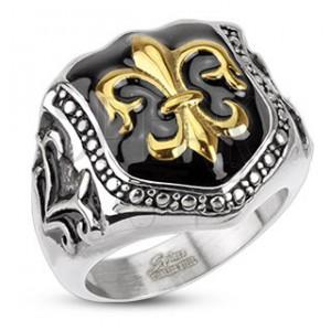 Prsten z chirurgické oceli - královský znak, štít